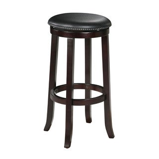 Chelsea Espresso Wood and faux Leather Counter-height Swivel Stools (Set of 2)