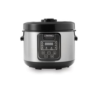 Aroma ARC-1208SB 16-Cup Rice Cooker, Slow Cooker and Food Steamer with Glass Lid