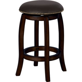 Bare Decor Aloha Backless Teak Counter Stool With Metal