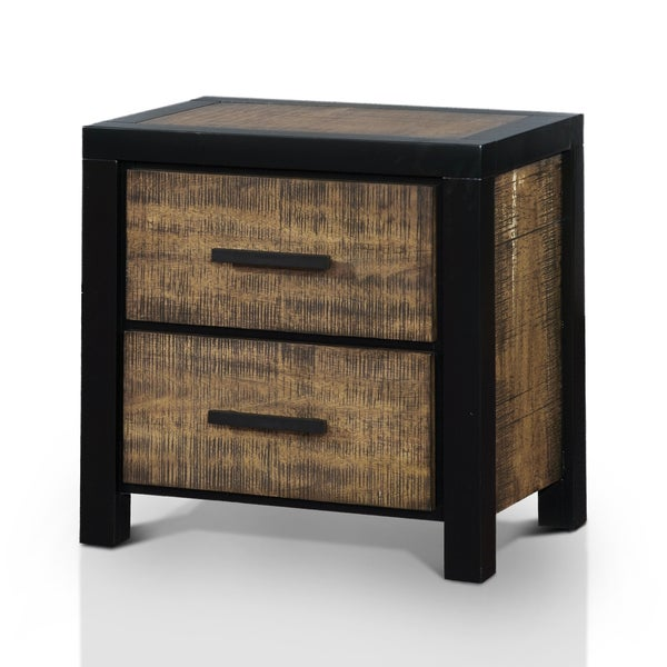 Furniture Of America Marson Rustic Two-Tone Black/Oak 2