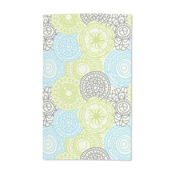 Fan Flowers on Blueprint Hand Towel (Set of 2)