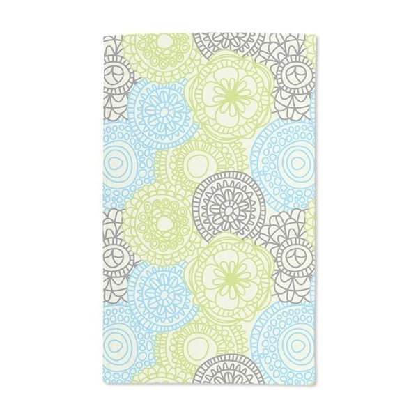 Dots on Green Hand Towel (Set of 2)