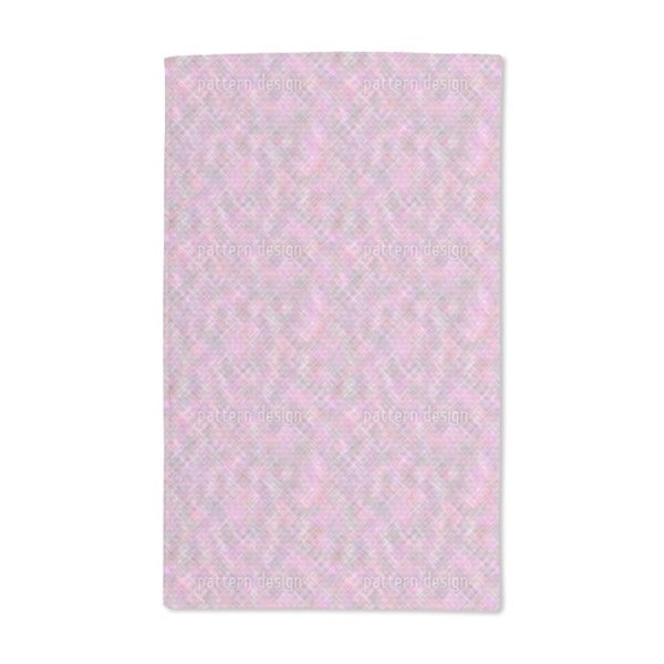 Confusion of the Pink Squares Hand Towel (Set of 2)