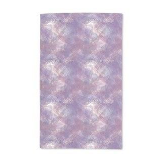 Golden Chain on Violet Silk Hand Towel (Set of 2)