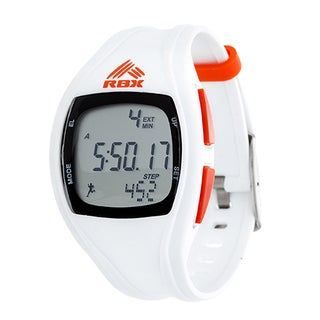 RBX Digital White Silicone Pedometer Watch