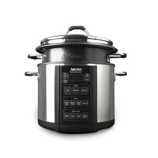 Aroma AMC-300-SG Black Stainless Steel Multi Cooker