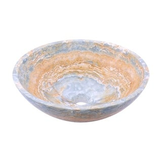 Novatto Blue Onyx Natural Stone Vessel Sink