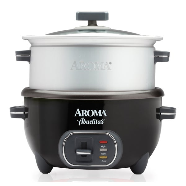 shop aroma src 1020 1bt abuelitas 20 cup specialty rice cooker and xl food steamer free. Black Bedroom Furniture Sets. Home Design Ideas