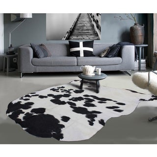 Premium 100-percent Natural Argentinean Extremely Soft Cow Hide White Black (5'x7')