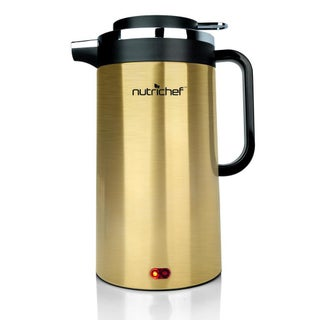 NutriChef Gold/Silver Stainless Steel Electric Cordless Water Kettle (Option: Gold)