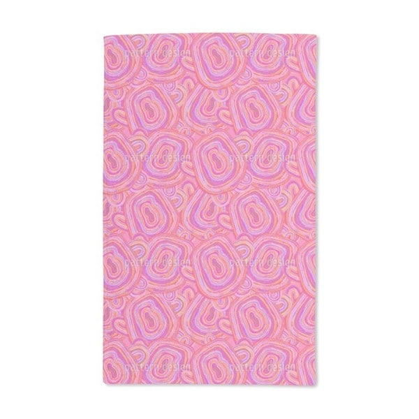 Pink Agate Hand Towel (Set of 2)