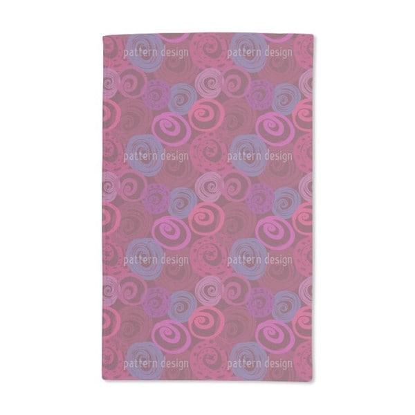 Roses in Circles Hand Towel (Set of 2)