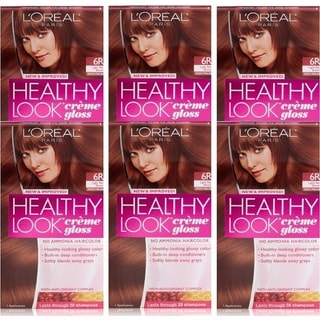 L'Oreal Paris Healthy Look Spiced Praline Creme Gloss Color (Pack of 6)