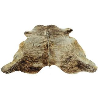 White/Brown 100-percent Natural Argentinean Brindle Cow Hide Area Rug (5' x 7') - 5' x 7'