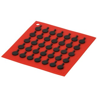 Lodge AS7S41 Red Square Silicone Trivet