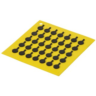 Lodge AS7S21 Yellow Square Silicone Trivet