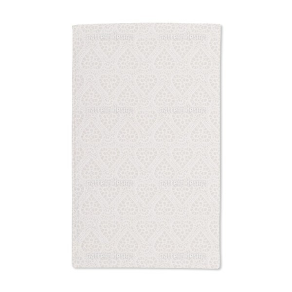 Bewildered Hearts Sand Hand Towel (Set of 2)