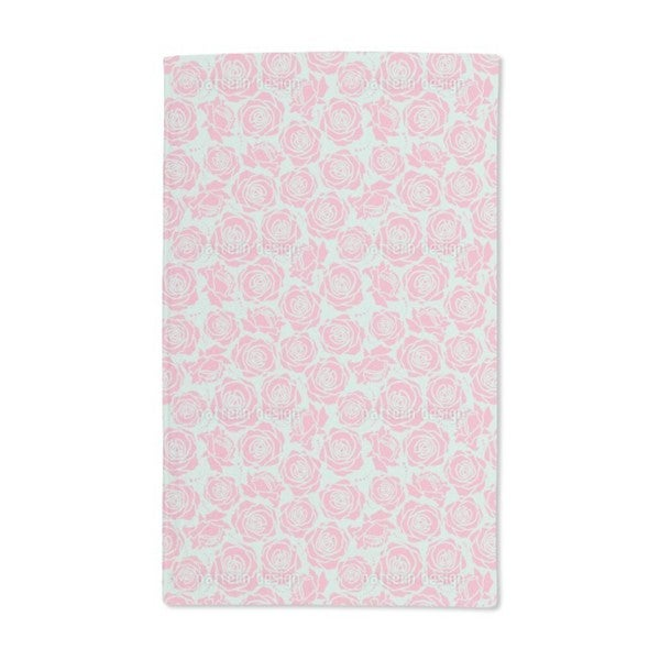Rose Blossoms Stylized Hand Towel (Set of 2)