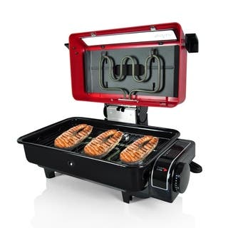 NutriChef PKFG14 Fish Grill and Roasting Oven Cooker|https://ak1.ostkcdn.com/images/products/12615902/P19409656.jpg?impolicy=medium