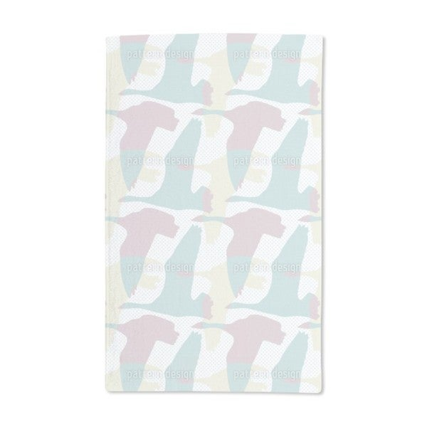 Flying Goose Pastel Hand Towel (Set of 2)