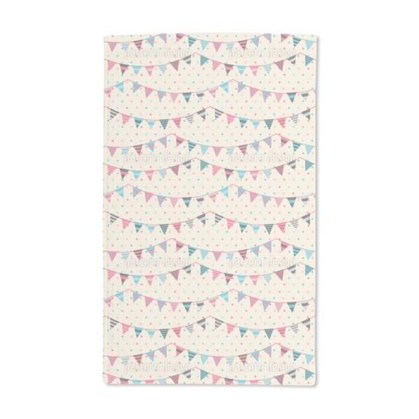 Sweet Festoons on Polka Dots Hand Towel (Set of 2)