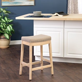 HomePop Blake Nailhead Counter Stool