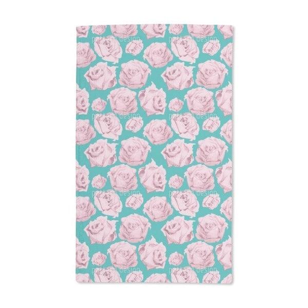 Art Rose Emerald Hand Towel (Set of 2)