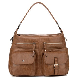 Vicenzo Leather Carlotta Distressed Leather Shoulder Handbag