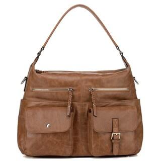 Vicenzo Leather Carlotta Distressed Leather Shoulder Handbag