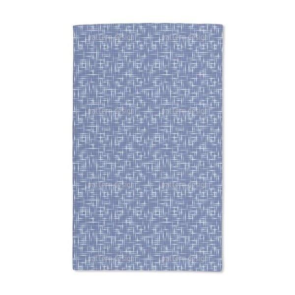 Textus Blue Hand Towel (Set of 2)