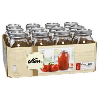 Kerr Quart Regular Mouth Canning Jars