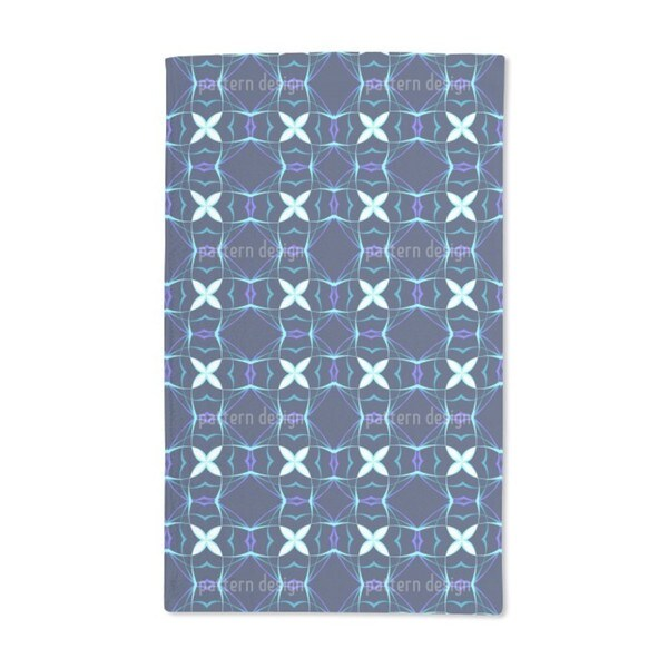 Futura Blue Hand Towel (Set of 2)