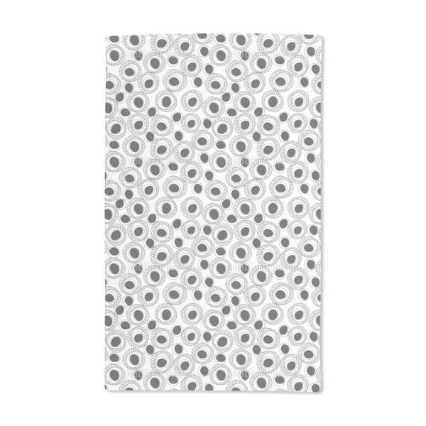 Black and White Fantasy Hand Towel (Set of 2)