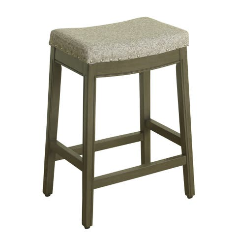 HomePop Blake Nailhead Counter Stool - 24 inches