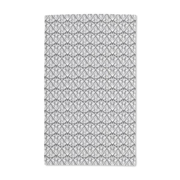 Diamond Black Hand Towel (Set of 2)