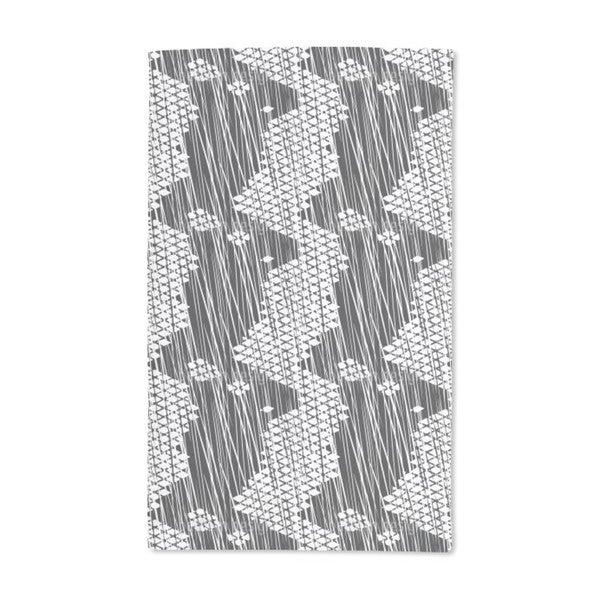 Rain on Grid Cross Hand Towel (Set of 2)