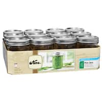 Kerr 1 Pint Wide Mouth Canning Jars