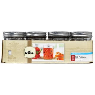 Kerr 00501 1/2 Pint Regular Mouth Canning Jars