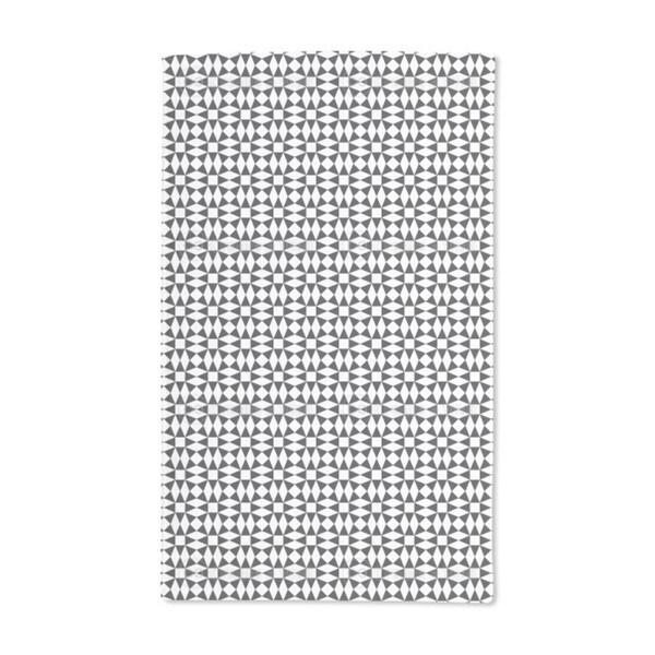 Black Diamond Illusion Hand Towel (Set of 2)