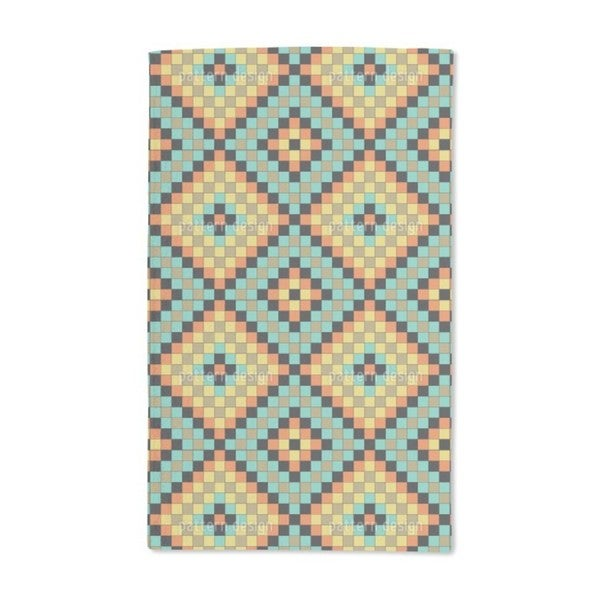 Colorful Mosaic Tiles Hand Towel (Set of 2)