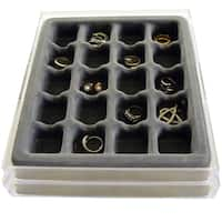 Stack Em Jewelry Organizer For Rings And Earrings, 20 Compartments, Set of 2