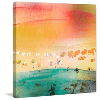 Parvez Taj - 'Dozing on the Beach' Painting Print on Wrapped Canvas