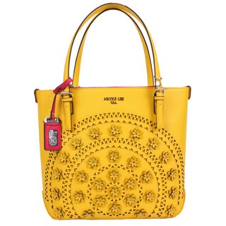 Nicole Lee Farley Yellow Flowery Shopper Bag