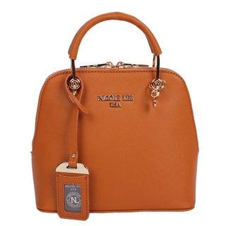 Nicole Lee Kyra Brown Mini Dome Satchel Handbag