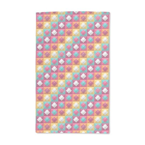 Diamond to the Square Hand Towel (Set of 2)