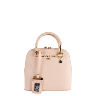 Nicole Lee Kyra Beige Mini Dome Satchel Handbag