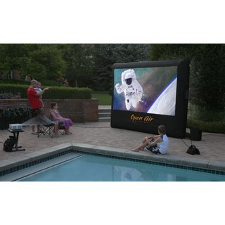 Open Air Cinema 9 x 5 1080 HD Inflatable Movie Screen System Package