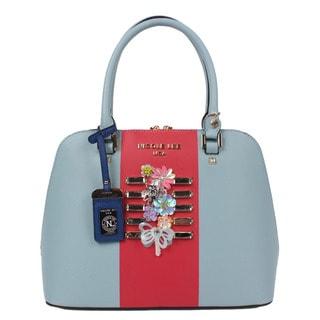 Nicole Lee Brielle Blue Colorblock Dome Handbag