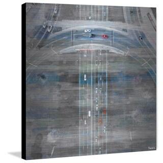 Parvez Taj - 'Six Lanes' Painting Print on Brushed Aluminum