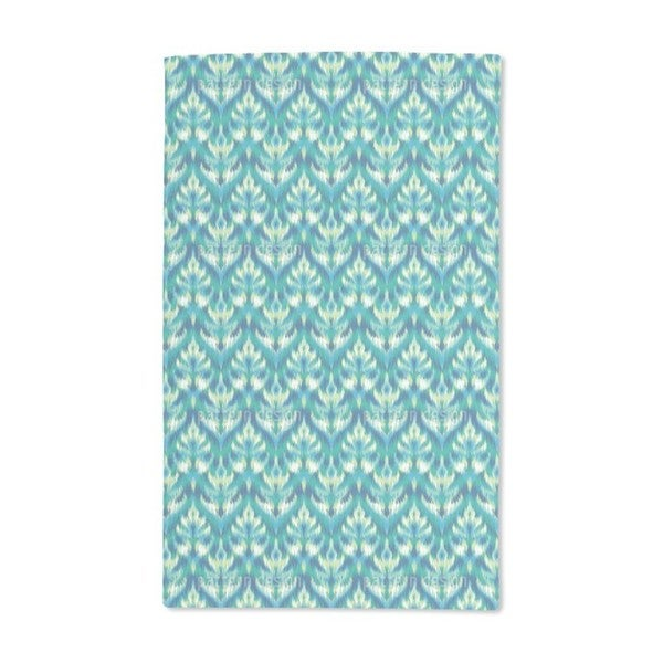 Asian Ikat Damask Hand Towel (Set of 2)